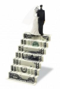 dollar-steps-money-marriage-wedding-bride-groom-bill