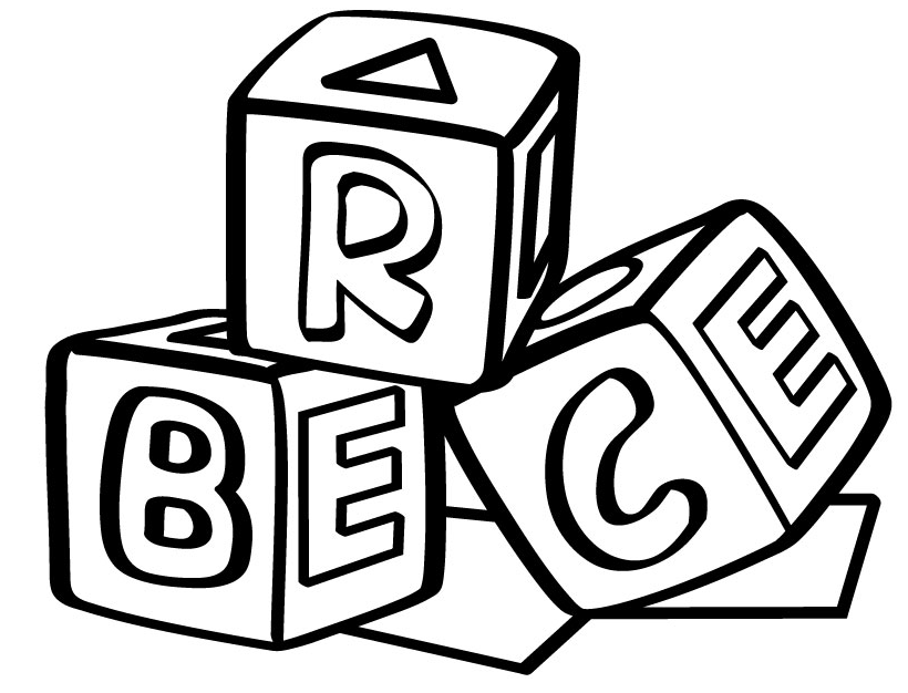 letter blocks coloring pages - photo#1